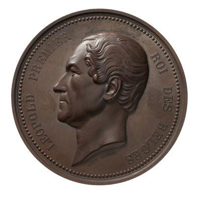 Coin with the image of Leopold the First, King of Belgium.