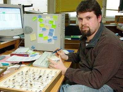 Portrait of Wouter Dekoninck, conservator of the entomology collections (© RBINS, Thierry Hubin)