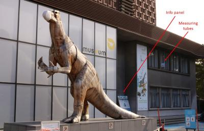 The measurements for CurieuzenAir are taken next to the entrance of the Museum of Natural Sciences. (Image: RBINS)