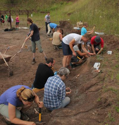 Field trip to excavation site in Poland