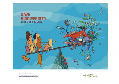 Campaign image of #TogetherForBiodiversity