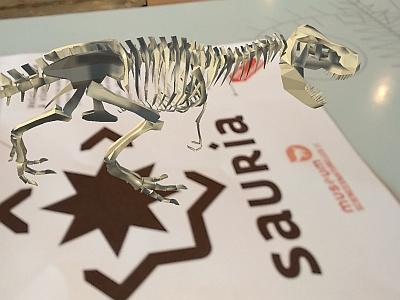 a miniature dinosaur in augmented reality on the Sauria application (photo: RBINS)
