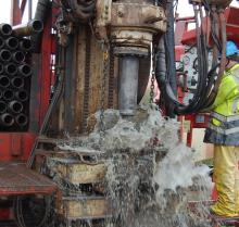 Drilling into the subsurface to extract geothermal heat from it. (Photo: RBINS)
